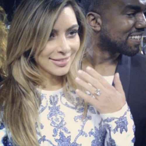 Kim Kardashian and Kanye West engagement details