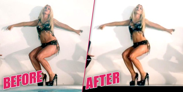 Britney Spears' waist was digitally slimmed down for her 'Work B***h' video