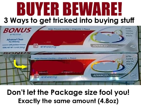 Buyer Beware! Three Ways Companies Trick You Into Buying Stuff