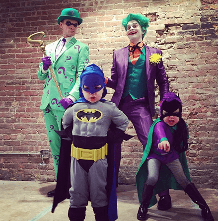 NEIL PATRICK HARRIS and his family did a Batman theme.  Neil was the Riddler, his husband DAVID BURTKA was the Joker, their son Gideon was Batman and their daughter Harper was Batgirl.
