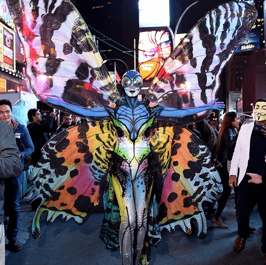 HEIDI KLUM went all-out, as usual.  This year she was a butterfly.
