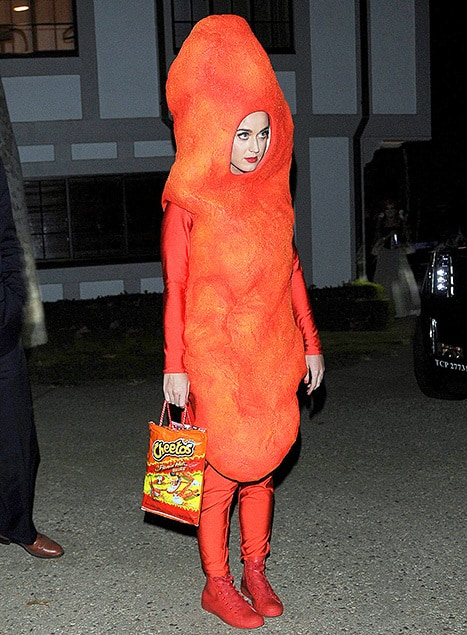 Speaking of not being sexy, KATY PERRY was a Flamin' Hot Cheeto.