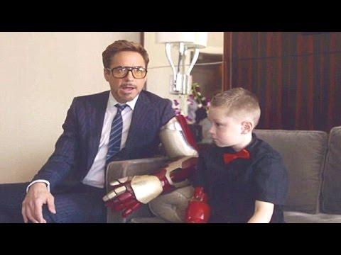Watch Robert Downey Jr. Present a Bionic Iron Man Arm to a Disabled Boy