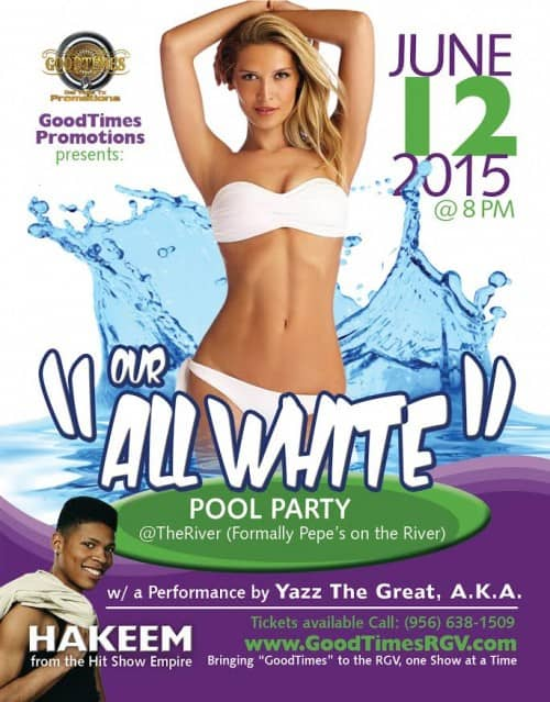 "Register to Win Tickets to the ""All White"" Pool Party! @ Pepe's"