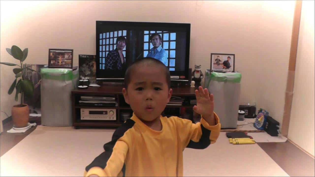 "Video: Five-Year-Old Does Bruce Lee's Nunchucks Scene from ""Game of Death"" (I was expecting him to break the TV)"