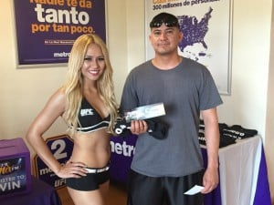 UFC Giveaways at Metro PCS!