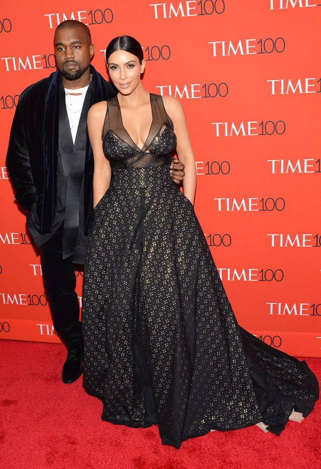 Kanye West, left, and Kim Kardashian attend the TIME 100 Gala, celebrating the 100 most influential people in the world, at the Frederick P. Rose Hall, Time Warner Center on Tuesday, April 21, 2015, in New York. (Photo by Evan Agostini/Invision/AP