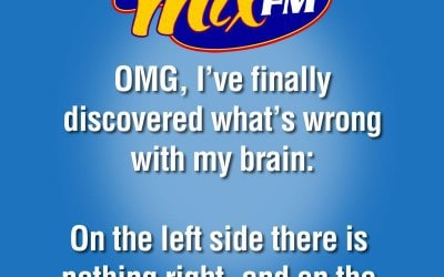 OMG, I've finally discovered what's wrong with my brain